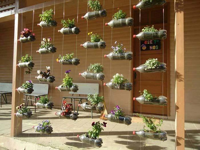 jardim vertical utilizando garrafas pet : jardim vertical utilizando garrafas pet:Vertical Garden with Plastic Bottles
